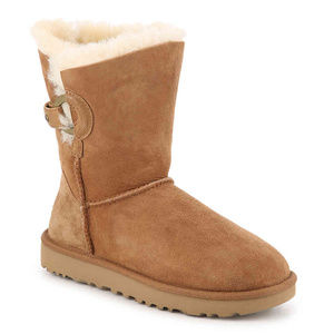 UGG NASH BUCKLE SUEDE SHEARLING BOOTS NEW CHESTNUT